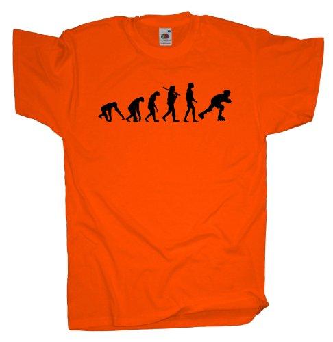 Ma2ca - Evolution - Rollerskates T-Shirt Orange