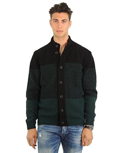 Mauro Grifoni maglione uomo maglia collo alto LP350517 (54, VERDE)