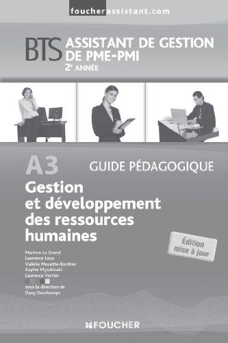 A3 Gestion et développement des ressources humaines 2e année BTS G.P