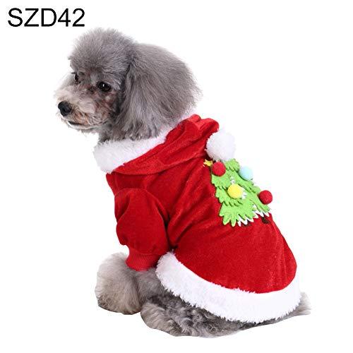 Catkoo Hundekleidung, Hundezubehör, Hundespielzeug, Hundekleid, niedliches Weihnachtsbaum, Bär, Schleife, warmes Haustier-Kostüm für Hunde und Weihnachten, - Tüll Weihnachtsbaum Kostüm