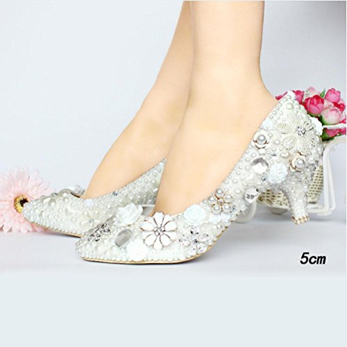 Qpyc Chaussures De Mariage Avec Des Strass Pour Femme, Chaussures De Mariage, Chaussures De Demoiselle D'honneur, Chaussures De Mariée, Strass, Chaussures De Mariée, Strass, Chaussures De Mariage 5cm