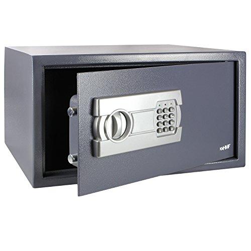 HMF Tresor passend für 15 Zoll Laptop und Ordner, Möbeltresor Laptopsafe Safe 450 ...