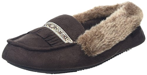 isotoner-women-pillowstep-moccasin-with-fur-cuff-and-tape-trim-low-top-slippers-brown-chocolate-6-uk