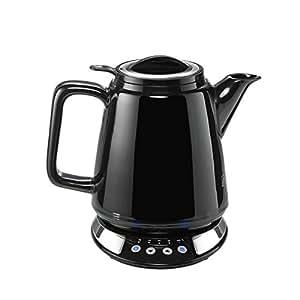 BEEM i-Tea Porzellan, Wasser- und Teekocher aus Porzellan mit Temperatureinstellung, schwarz