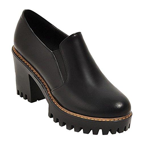 Zapatos De Tacón Con Plataforma De Tacón Alto Negro Misssasa Para Mujer