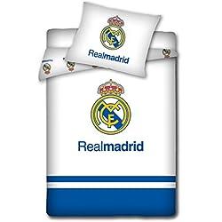 Real Madrid bebé de funda de edredón y funda de edredón de 100 x 135/40 x 60 cm ** de colour azul