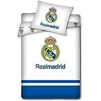 Real Madrid - Ropa de cama para niños (100 x 135 cm / 40 x 60 cm), color azul