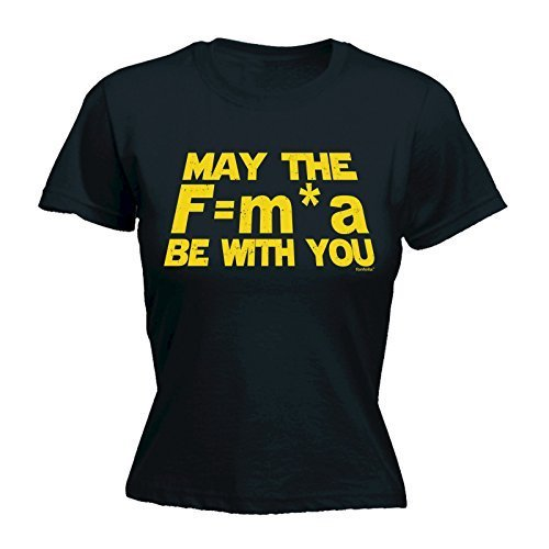 123t Women's NEWTON'S MAY THE F=M*A BE WITH YOU Ladies Fitted T-shirt