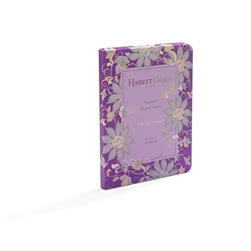 Hassett Green London Schubladeneinlagen Duft Lavendel mit Einem Hauch von Flieder 6 Bögen 600 x 400 mm - Lavendel Schublade Liner