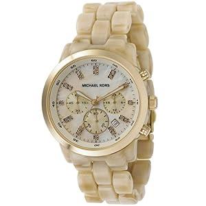 Reloj MICHAEL KORS MK5217 de cuarzo para mujer con correa de resina, color beige de Michael Kors