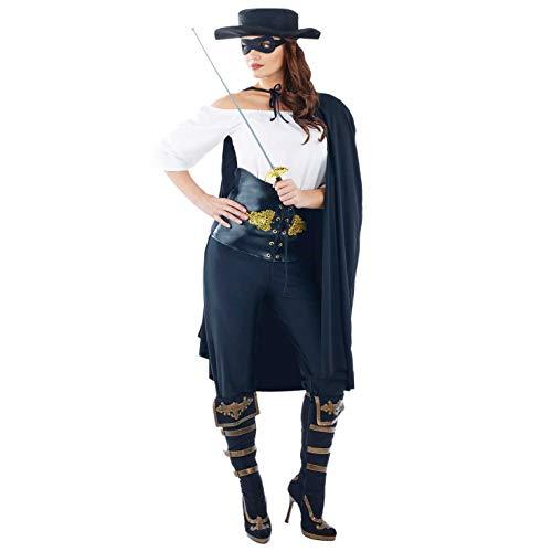 Fun Shack Costume Kostüm, Womens Zorro, Größe S (Alte Lady Kostüm Für Erwachsene)