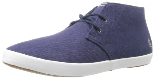 Fred Perry Byron, Herren Sneaker, Mid Blue, 7, Carbon (Erwachsene), Blau, 7 F(M) UK