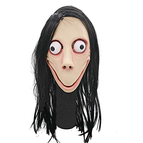 CANE Weiblicher Geist Halloween Maske Latex Material Terror Real Scream Dress Up (Urkomisch Billige Kostüm)