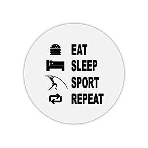 Mauspad, rund, Eat Sleep Sprungbrett