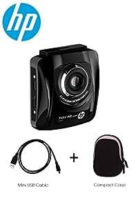 Caméra de voiture caméscope enregistreur HP F500 Full HD 1080p Accident Accident de détection de mouvement de 140 ° grand angle lentille en verre et filtre IR, 2,4 écran - PAQUET Empaqueter : Câble mini USB et appareil photo de voiture Case - exclusivité VuPoint®