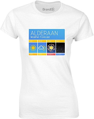 Brand88 - Superlaser Forecast, Gedruckt Frauen T-Shirt Weiß