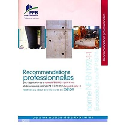 Recommandations professionnelles: Relatives au calcul des structures en béton