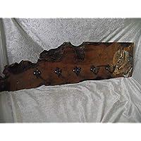 Handmade solid wood waney edge squirrel coat rack/hooks