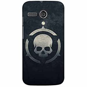 Casotec Skull Pattern Print Design 3D Printed Hard Back Case Cover for Motorola Moto G 1st Generation