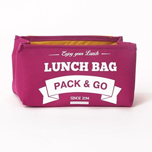 Pranzo borsa unisex Scatola S. déjeuner. sacchetto di picnic lavabile. Sandwich e borsa a scuola per merenda o al lavoro. Scatola a aliments. Sacchetti a Lunch rosso (Berry) Berry