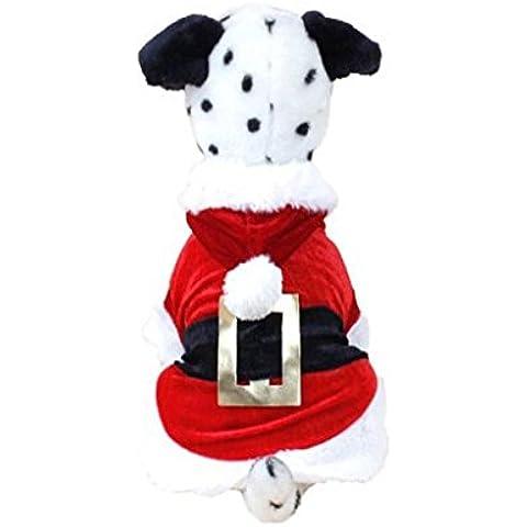 para la ropa de la Navidad para mascotas,RETUROM Disfraces de Navidad nueva ropa para perros Perro de Santa ropa para mascotas Nuevo Diseño (M)