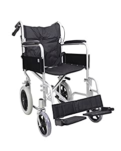 AMW004 Angel Mobility Lightweight Aluminium Folding Transit Travel Wheelchair Net Carry Weight Only 11 KG FREE SIMPLANTEX WHEELCHAIR CUSHION £19.95