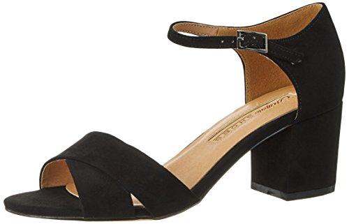 Buffalo Shoes Damen 315267 Imi Suede Bhwmd A350 Knöchelriemchen, Schwarz (Black 01), 38 EU