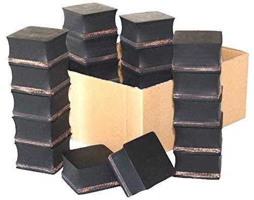 40x40x20mm (Karton mit 48 Stück) Gummi-Auflage Unterlage Wagen-Heber Hebebühne eckig Auto Set Unterstellbock Klotz Rangier-Wagenheber Puffer Reifen Reifenwechsel LKW Räder KFZ Tuning Zubehör