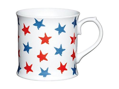 Kitchencraft Mug en porcelaine Motif étoiles Rouge/bleu