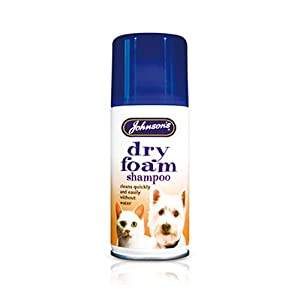 Johnsons Dry Foam Shampoo for Cats & Dogs 119ml 180g - Bulk Deal of 6x from Johnsons