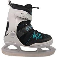 K2 Kinder Schlittschuhe Juno ICE schwarz-türkis-weiss 2530903.1.1 Eislaufschuhe Ice Skates Eishockey-Schlittschuhe Fitness verstellbar