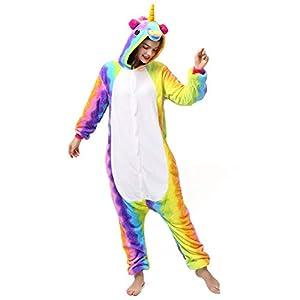 Katara- Kigurumi (10+ Modelos) Pijamas Animales Halloween Adultos, Color Unicornio Arco Iris, Talla 175-185cm (1744)