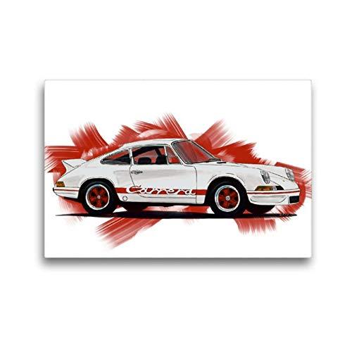 Premium Textil-Leinwand 45 x 30 cm Quer-Format Porsche 911 Carrera RS   Wandbild, HD-Bild auf Keilrahmen, Fertigbild auf hochwertigem Vlies, Leinwanddruck von Reinhold Autodisegno