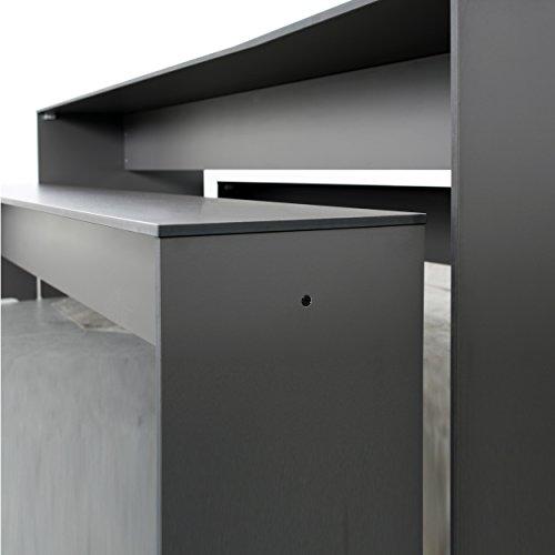 Riva Bank 216 cm ohne Lehne – anthrazit - 2