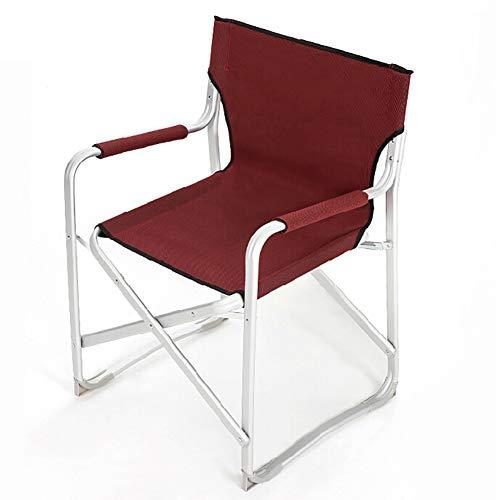 Outdoor-Freizeit gepolsterte Klapp Campingstuhl, leichte tragbare + Outdoor-Mittagspause + zuverlässige Liege, Campingausrüstung Übergröße mit hohem Rücken atmungsaktiv -