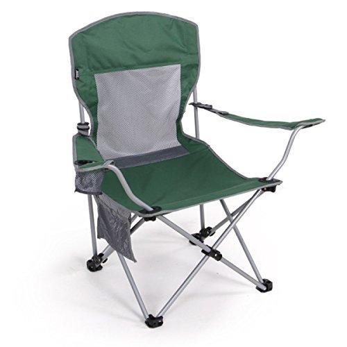 LDFN Tragbare Klappstuhl Außenstuhl Fischenstuhl Strand Stuhl Zwei Einstellbare Hohe Rückenlehne Schreiben Mittagspause Lounge Chair,Green-55*55*94cm/1.80*1.80*3.08ft