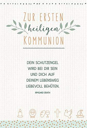 Zur ersten heiligen Kommunion: Glückwunschkarte