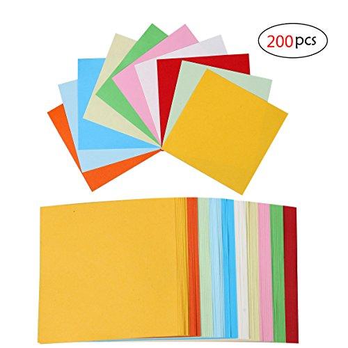 Origami ,Buntes Papier Bunte Faltpapier 100 Blatter Für Kinder DIY Basteln Zuhause Party Dekoration Kunst Projekte 10cm 2pack