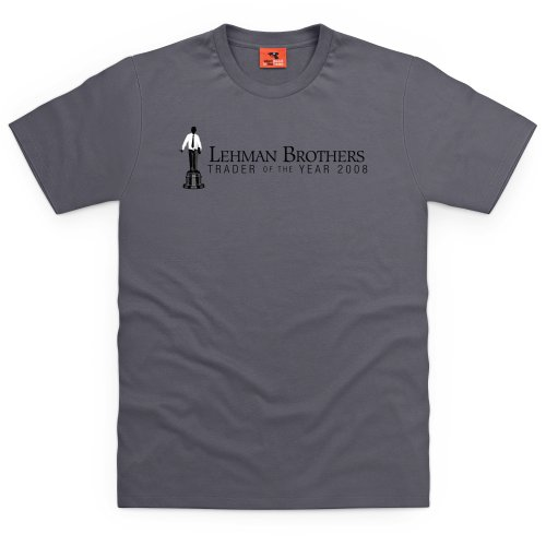 Square Mile Lehman Brothers T-Shirt, Herren Anthrazit