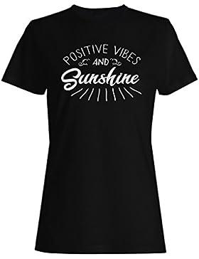 Vibraciones Positivas Y Sol camiseta de las mujeres n701f