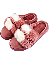 Zapatillas de Andar por Casa Talón Abierto con Borreguillo Forro Polar y Suela Ancha Antideslizante Tallas