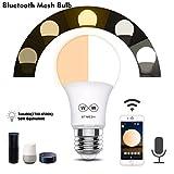 TianranRTBluetooth Led Dimmable Rgb Smart Light E27 Ampoule App Télécommande Sans...