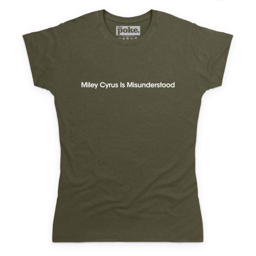 Misunderstood T-Shirt, Damen Olivgrn