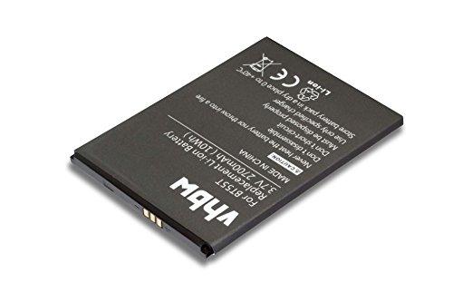 vhbw Li-Ion Batteria 2700mAh (3.8V) per cellulari e smartphone Zopo 3X, 9530, ZP998, ZP999 sostituisce BT55T.