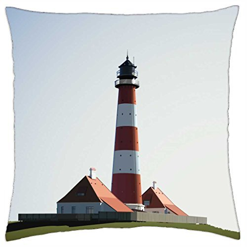 Leuchtturm Baumwolle (Leuchtturm–Überwurf Kissenbezug Fall (40,6x 40,6cm))