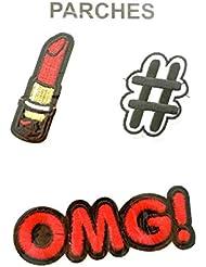 Réf0L50 ACC.03 - Patch Thermo-collant Thème Girly - Rouge à Lèvre Etoile Lunettes de Soleil à Sequins NkGCJG2g