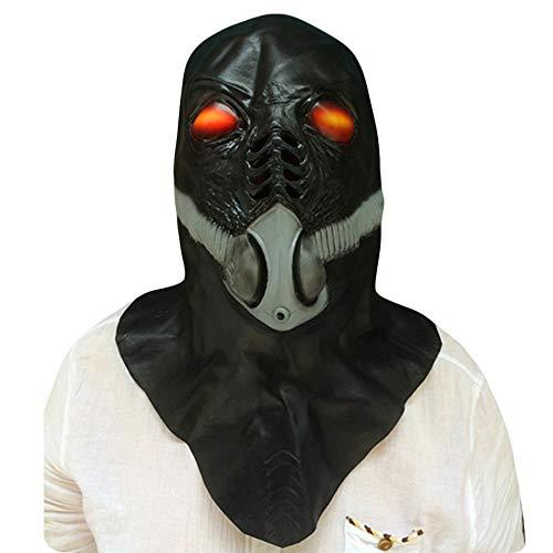 NightGhost Todesgott Gasmaske Maske, Deluxe Neuheit Halloween Kostüm Party Latex Film Tierkopf Maske für - Zombie Wanderer Kostüm