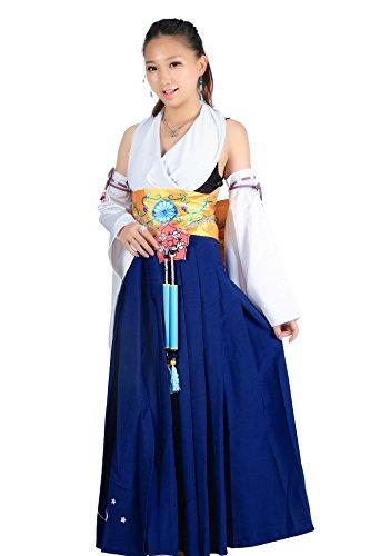 De-Cos Final Fantasy X Cosplay Costume Spira Summoner Yuna 1st Version (Fantasy Final Girl Kostüme)