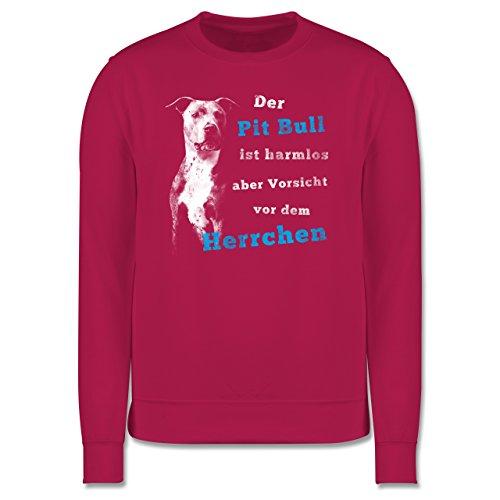 Hunde - Der Pit Bull ist harmlos aber Vorsicht vor dem Herrchen - Herren Premium Pullover Fuchsia