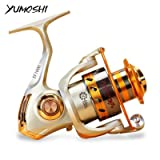#4: Zorbes Yumoshi Metal Spool Spinning Fishing Reel Carretilha Pesca Wheel 12-Ball Bearing
